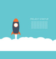 project startup in flat design business concept vector image