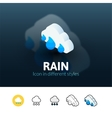 Rain icon in different style vector image vector image