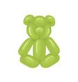 realistic animal-shaped balloon cute funny vector image vector image