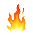 red fire flat icon isolated on white background vector image vector image