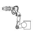 robot arm laser vector image vector image