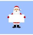 Santa peeping from behind vector image vector image