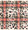 scottish tartan with leopard skin spots vector image