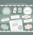 scrapbooking elements paper stickers set vector image vector image
