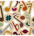 Seamless pattern with music signs