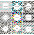 seamless set of postcards vector image vector image