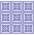 seamless tile design vector image vector image