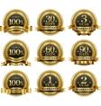 set 100 guarantee golden labels vector image vector image