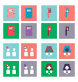 Set of clinical icons medical equipment on the