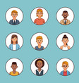 set of people profile vector image vector image