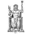 seven wonders ancient world statue zeus vector image vector image