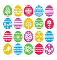 silhouettes of color easter eggs isolated on vector image vector image