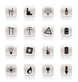 simple electricity and energy icons vector image vector image