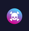 skull trendy icon vector image vector image