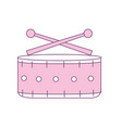 snare drum musical instrument to play music vector image vector image