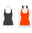 strap tank top template vector image vector image