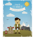 Summer camping vector image vector image