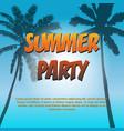summer partytropical design invitation cover vector image vector image
