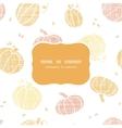 thanksgiving pumpkins textile frame seamless vector image vector image
