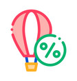 travel air balloon icon outline vector image