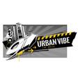 urban graffiti banner vector image vector image