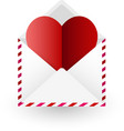valentine s card with letter and heart vector image