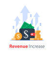 wallet full money revenue increase high vector image