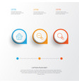 web icons set collection of zoom out research vector image vector image