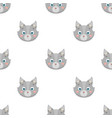 wolf muzzle icon in cartoon style isolated on vector image vector image