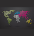 world map made up of small dots with distinct vector image vector image