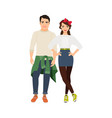 young casual happy couple vector image vector image