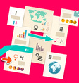Paper Infographic Layout vector image