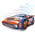 speeding racing car vector image