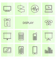 14 display icons vector image vector image