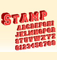 3d alphabet font template vector image