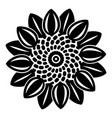abstract flower icon simple style vector image vector image