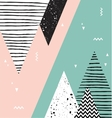 Abstract geometric Scandinavian style pattern with vector image vector image
