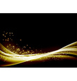 Abstract glittering sparkling waves border vector image vector image