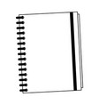 address book symbol in black and white vector image vector image