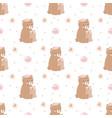 adorable bear seamless pattern vector image vector image