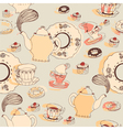 Afternoon Tea Pattern Background vector image vector image
