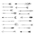 Arrow indian style set hand drawn vector image vector image