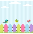 Bird and butterflies vector | Price: 1 Credit (USD $1)