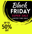 black friday sale banner invitation in grunge vector image vector image