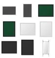 Boards and Frames realistic Mockup Set vector image