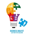 Business analyst design concept vector image