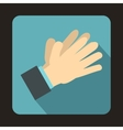 Clapping applauding hands icon flat style vector image vector image