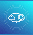 cloud technology line icon vector image vector image