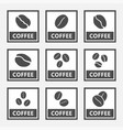 coffee signs and icons set for cafes and shops vector image vector image