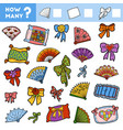 counting game for children count how many pillows vector image vector image
